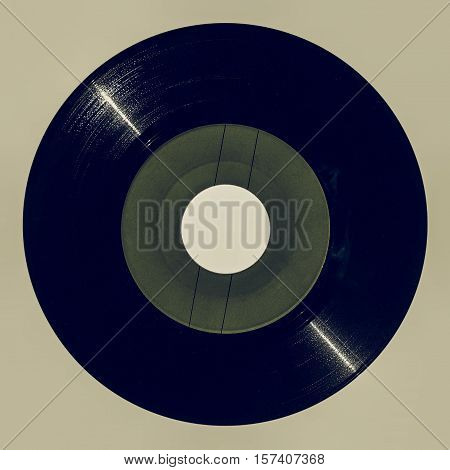 Vintage Looking Green Vinyl Record
