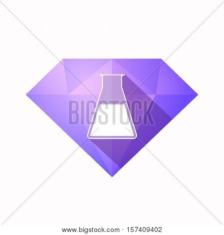 Isolated Diamond With A Flask