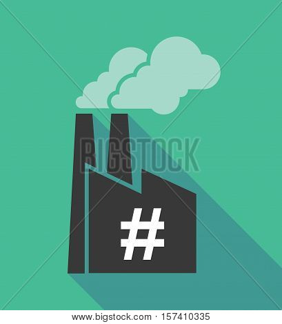Factory Icon With A Hash Tag