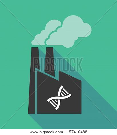 Factory Icon With A Dna Sign