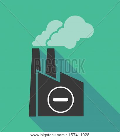 Factory Icon With A Subtraction Sign