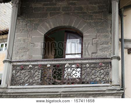 Beautiful balcony near the Piazza della Repubblica in Cortona