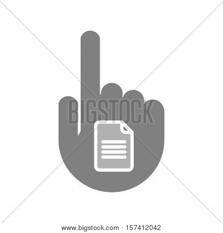 Isolated Hand With A Document