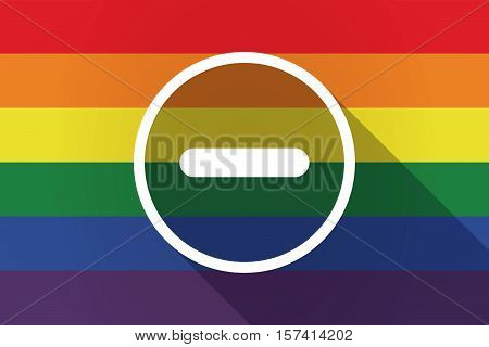 Long Shadow Lgbt Flag With A Subtraction Sign