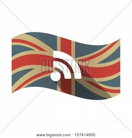 Isolated Uk Flag With An Rss Sign