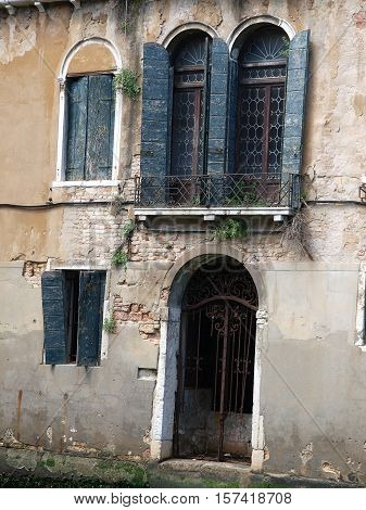 Venice - the remains of its former glory palace in the Dorsoduro district