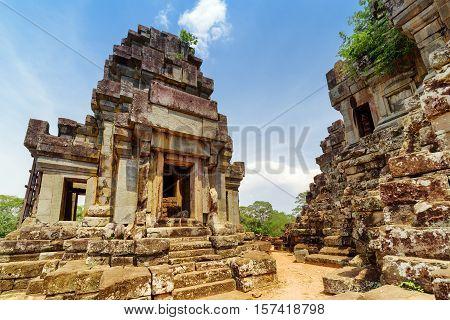 Ancient Prang Of Ta Keo Temple. Angkor, Siem Reap, Cambodia