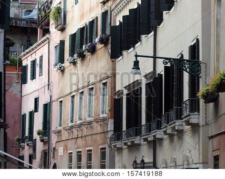 Venice - peaceful and charming district of San Marco
