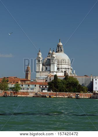 Venice - Basilica of the Salute as seen from the Giudecca Canal