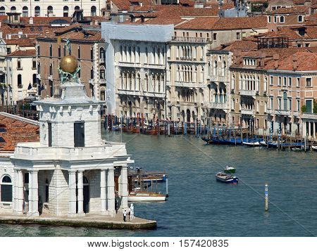 VENICE, ITALY - MAY 23, 2010: Punta della Dogana in Venice. Former customs house
