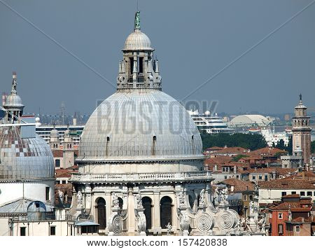Venice - The Roofs of Basilica di Santa Maria Della Salute