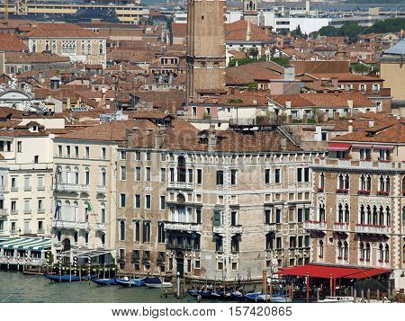 VENICE, ITALY - MAY 23, 2010:Venice - view from the tower of the church of San Giorgio Magiore