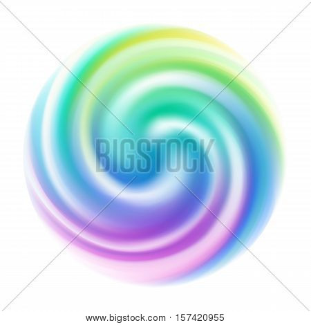 Colorful spiral blur swirl background. Vector illustration.