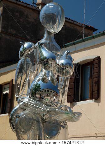 VENICE, ITALY - MAY 23, 2010: Garibaldi street near vaporetto station at Murano Island Italy