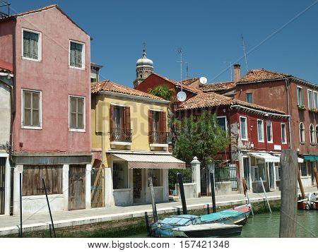VENICE, ITALY - MAY 23, 2010: Fondamenta dei Vetral on Murano Island. Italy