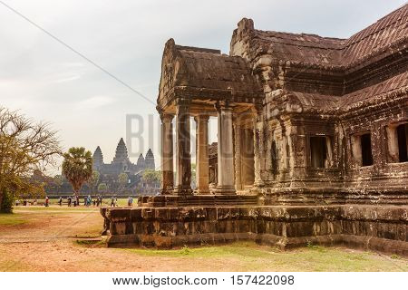 One Of Buildings On Area Of Angkor Wat In Siem Reap, Cambodia