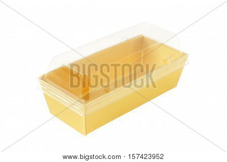 Paper Tray Transparent Cover isolated on white background clipping path