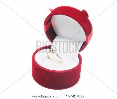 Golden Rings With Box