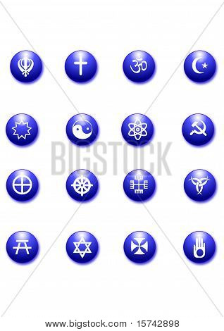 Religious Purple Icons
