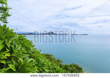 View of the island of Samui from the mountain