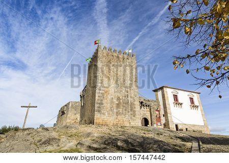 Castle in Belmonte town, district of Castelo Branco, Portugal