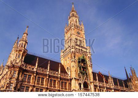 Marienplatz, Munich, Germany on daytime in summer