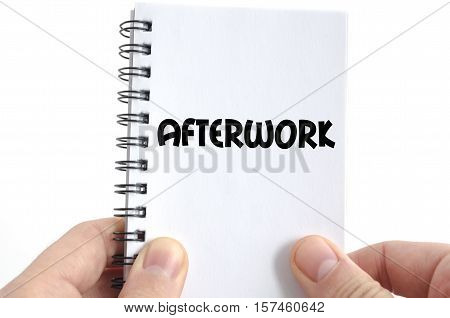 Afterwork text concept isolated over white background