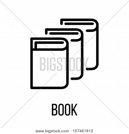 Book icon or logo in modern line style. High quality black outline pictogram for web site design and mobile apps. Vector illustration on a white background.