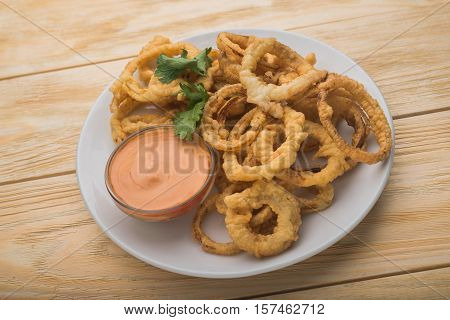 Fried Onion With Souce