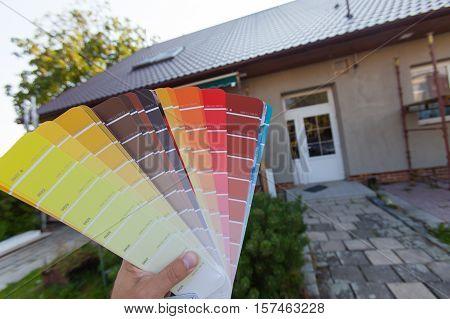 Choosing A New Color Of The Facade.