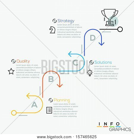 Modern business circle arrows process line style options banner. Vector illustration. can be used for workflow layout, diagram, number options, step up options, web design, infographics.