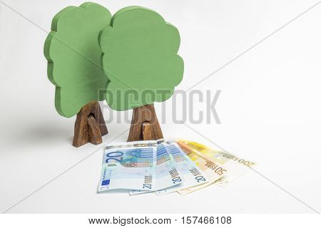 House Of Wooden Blocks, Wooden Figures Of Trees, Euro Money, Model Cars, Keys