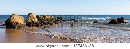 Beach of Praia da Rocha, Portimao Coast. Algarve. Portugal
