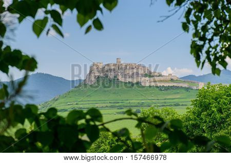 View Spis Castle in Slovakia, sights of the city.
