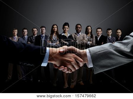 concept of a professional business team and reliable partnership