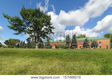 BREST, BELARUS - AUGUST 30, 2016: Former barracks. Brest Fortress the first to receive the blow during the attack of the German troops on the Soviet Union