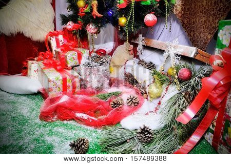 xmas stillife. decoration