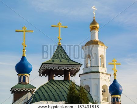 Crosses and domes of the Orthodox Church
