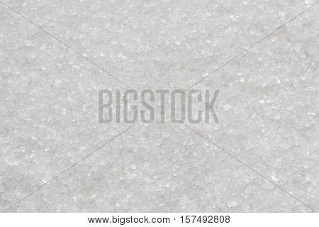 Sea salt crystals background. Marine coarse salt.