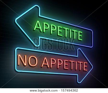 Neon Appetite Concept.