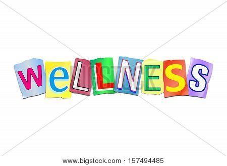 Wellness Word Concept.