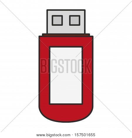 Usb icon. Connection technology equipment and hardware theme. Isolated design. Vector illustration