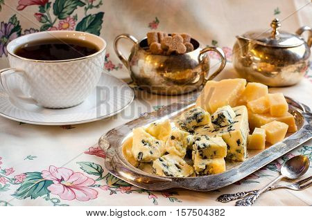 Breakfast With Cheese And Tea