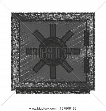 Strongbox icon. Security system warning protection and danger theme. Isolated design. Vector illustration