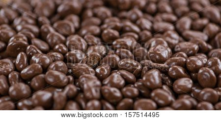 Chocolate Raisins for use as background image or as texture