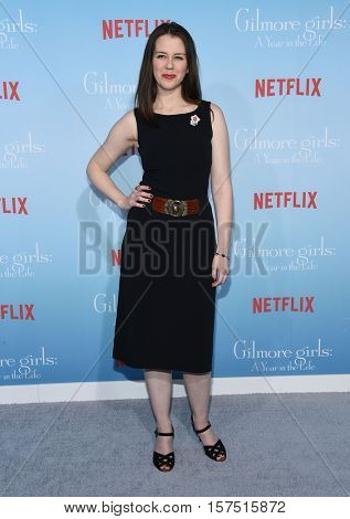 LOS ANGELES - NOV 18:  Rini Bell arrives to the Netflix's 'Gilmore Girls: A Year In The Life' Premiere on November 18, 2016 in Westwood, CA
