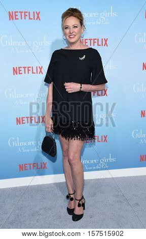 LOS ANGELES - NOV 18:  Virginia Madsen arrives to the Netflix's 'Gilmore Girls: A Year In The Life' Premiere on November 18, 2016 in Westwood, CA