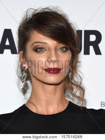 LOS ANGELES - NOV 14:  Angela Sarafyan arrives to the Glamour Celebrates Women of the Year Awards 2016 on November 14, 2016 in Hollywood, CA