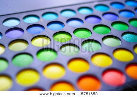The Makeup palette. Close up shallow DOF. poster