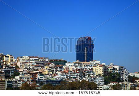 View of the Yildiz (Besiktas), Istanbul. Blue Sky.